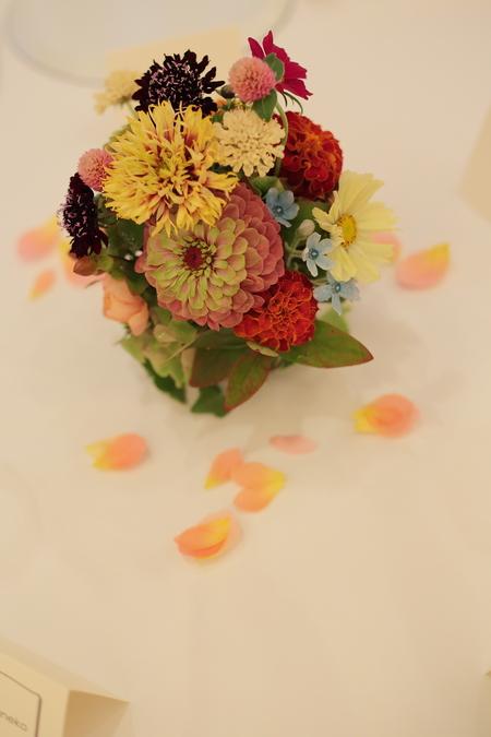 秋の装花 リストランテASO様へ 草花とインスタグラム_a0042928_2052482.jpg