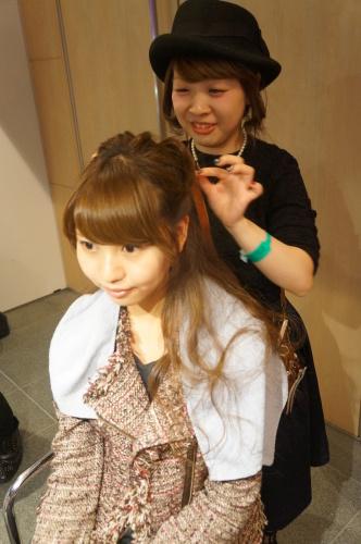 【イベント】TGC Night Halloween party☆ハロウィンイベントで無料ヘアアレンジやステージ上でモデルさんのヘアアレンジをしました♪_c0080367_19403935.jpg