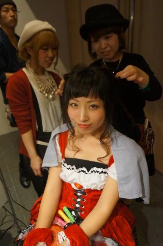 【イベント】TGC Night Halloween party☆ハロウィンイベントで無料ヘアアレンジやステージ上でモデルさんのヘアアレンジをしました♪_c0080367_19405209.jpg