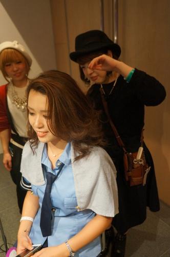【イベント】TGC Night Halloween party☆ハロウィンイベントで無料ヘアアレンジやステージ上でモデルさんのヘアアレンジをしました♪_c0080367_19414826.jpg