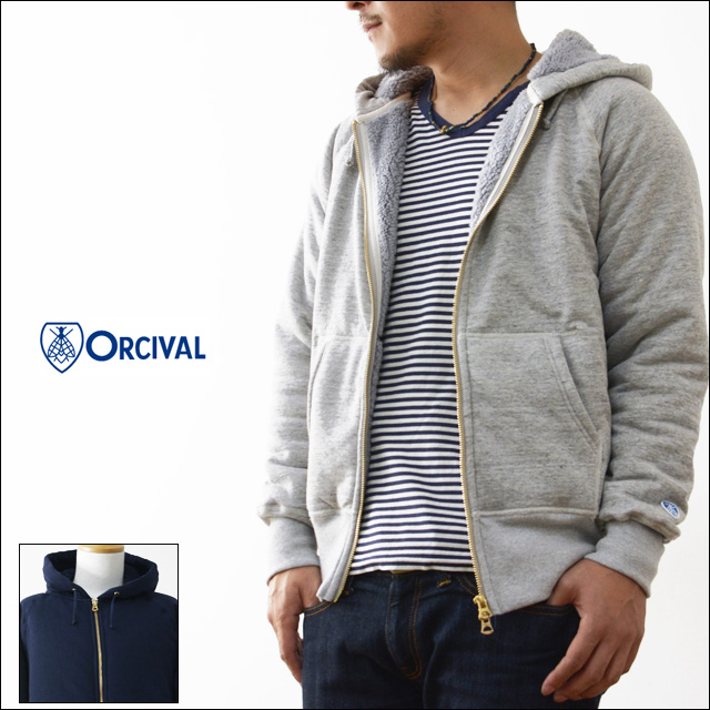 ORCIVAL[オーチバル・オーシバル]FULL ZIP BOA SWEAT PARKA [RC-6937] MEN\'S_f0051306_18143746.jpg