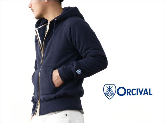 ORCIVAL[オーチバル・オーシバル]FULL ZIP BOA SWEAT PARKA [RC-6937] MEN\'S_f0051306_18144071.jpg