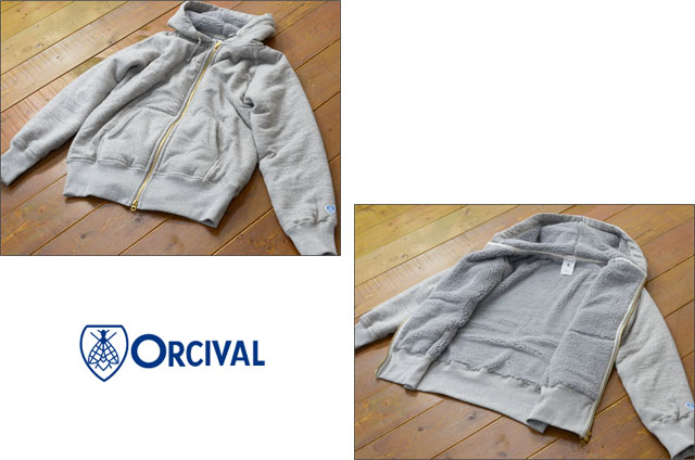 ORCIVAL[オーチバル・オーシバル]FULL ZIP BOA SWEAT PARKA [RC-6937] MEN\'S_f0051306_18144396.jpg