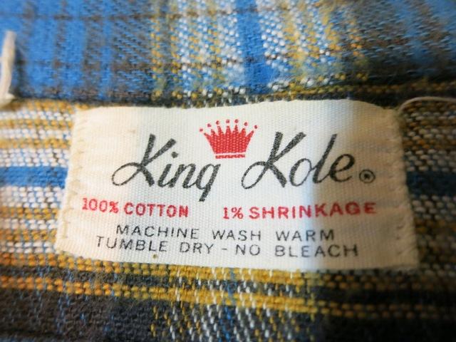 11/1(土)入荷商品!70'S KING KOLEネルシャツ!_c0144020_15555259.jpg