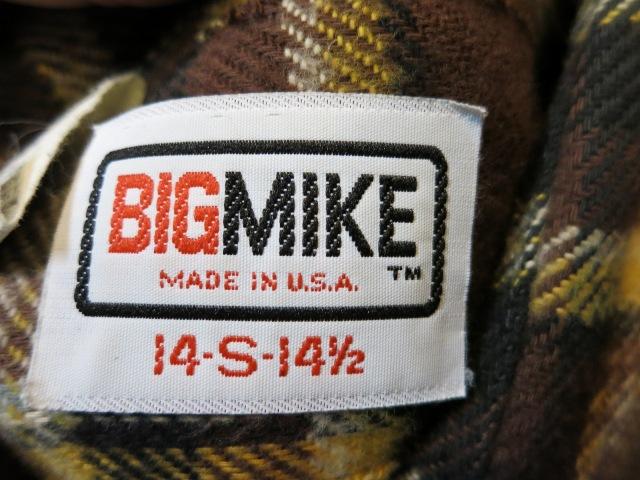 11/1(土)入荷商品!BIGMIKE ネルシャツ!サイズS_c0144020_15573131.jpg