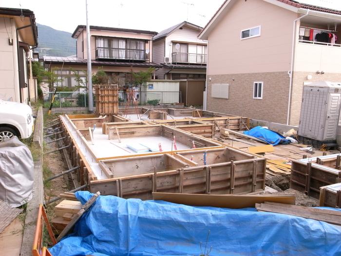 コンクリート打設、基礎工事完了_d0332870_5584969.jpg