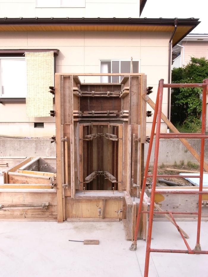 コンクリート打設、基礎工事完了_d0332870_632637.jpg