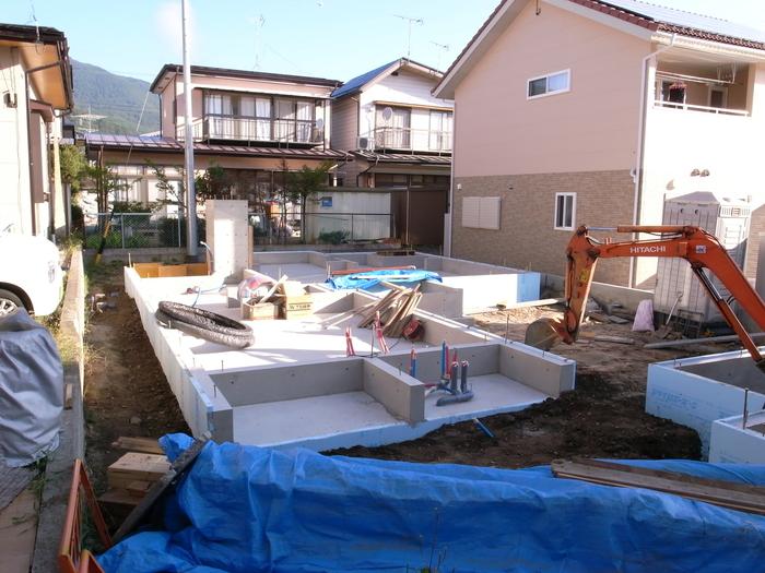 コンクリート打設、基礎工事完了_d0332870_654313.jpg