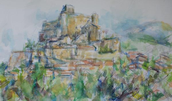 バルーの城(水彩)_c0236929_14372160.jpg