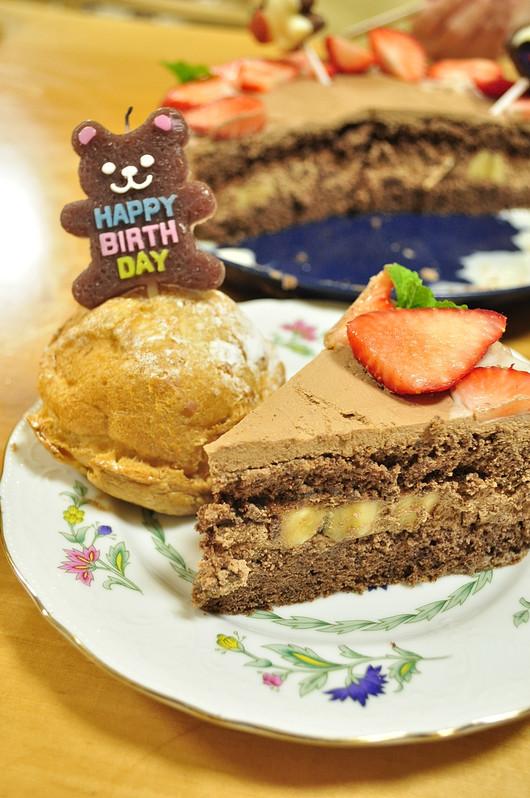 息子リクエスト チョコレートの誕生日ケーキ_b0171098_1125845.jpg