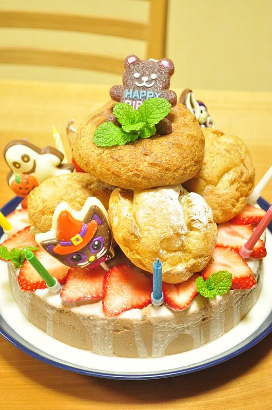 息子リクエスト チョコレートの誕生日ケーキ_b0171098_1127239.jpg