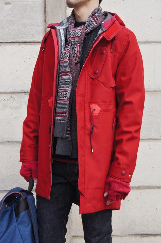 White Mountaineering - Red Coat Look!!_f0020773_20101193.jpg