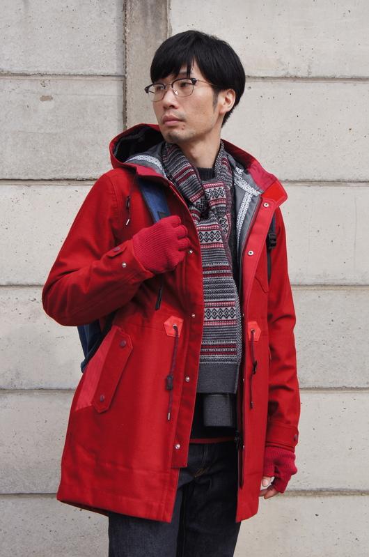 White Mountaineering - Red Coat Look!!_f0020773_209572.jpg