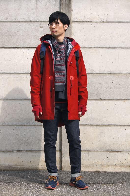 White Mountaineering - Red Coat Look!!_f0020773_209795.jpg