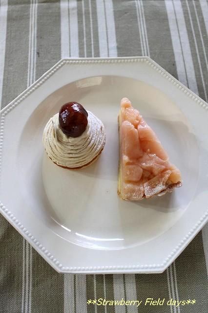秋の果物を使ったケーキ_c0087094_21472223.jpg