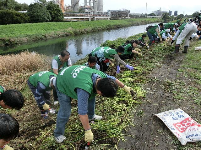 「よき企業市民」に 中塚社長を始め120名以上のジヤトコの皆さんに参加いただいたヒガンバナの植付け作業_f0141310_7421133.jpg