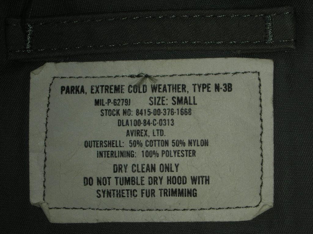 1984\'S TYPE N-3B PARKA MIL-P-6279J SZ/SMALL[RJKT432]詳細画像_c0187684_1415317.jpg