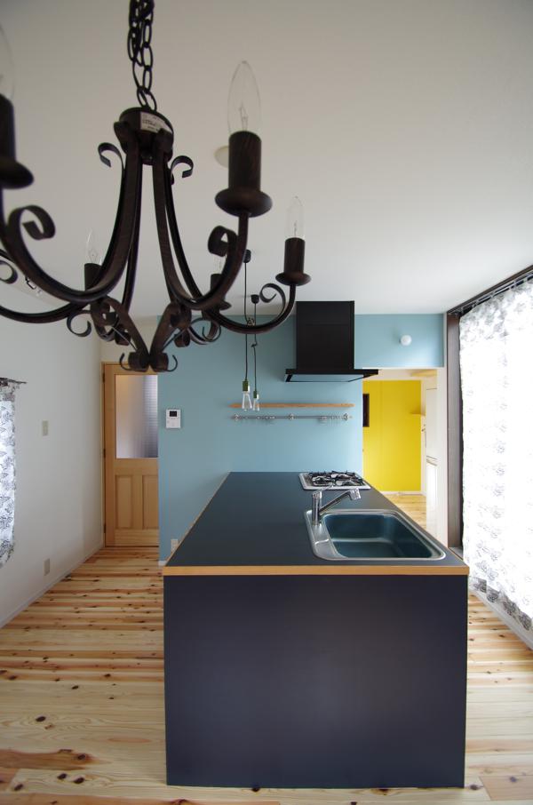 黒いアイランドキッチン/葛飾区H邸リフォーム_c0004024_1041132.jpg