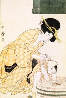 「浮世絵 入浴 母子」の画像検索結果