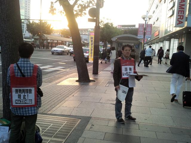 11月6日、とめよう戦争への道!百万人署名運動岡山県連絡会の街頭宣伝に参加した_d0155415_193004.jpg