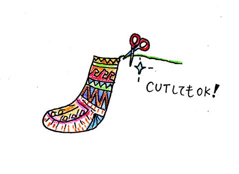 イランのおばあちゃん靴下についている紐について_d0156336_219391.jpg