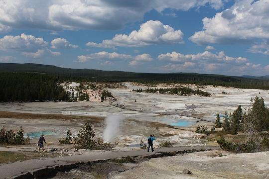 家族旅行2014年08月-北米-イエローストーン・グランドティトン-第五日目-イエローストーン・ノーリスガイザー/マッドボルケーノ_c0153302_17460423.jpg