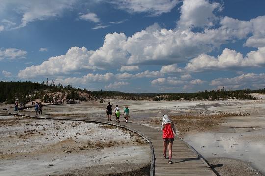 家族旅行2014年08月-北米-イエローストーン・グランドティトン-第五日目-イエローストーン・ノーリスガイザー/マッドボルケーノ_c0153302_18075444.jpg