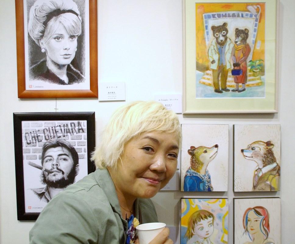 第45回 日本美術家連盟展〔Front Face〕顔オープニングパーティー@日本橋ナンワギャラリー_f0006713_21214808.jpg