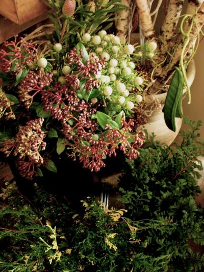 Christmas  Wreath Lesson ! 始まりました。。。_a0229658_20143981.jpg