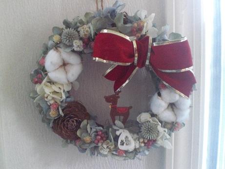 クリスマスリボンリース_c0207719_11184870.jpg