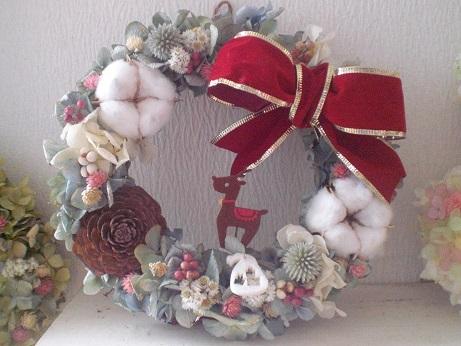 クリスマスリボンリース_c0207719_11185774.jpg