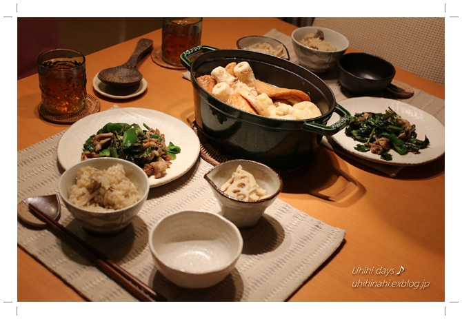 鶏ごぼう舞茸炊き込みご飯_f0179404_734181.jpg
