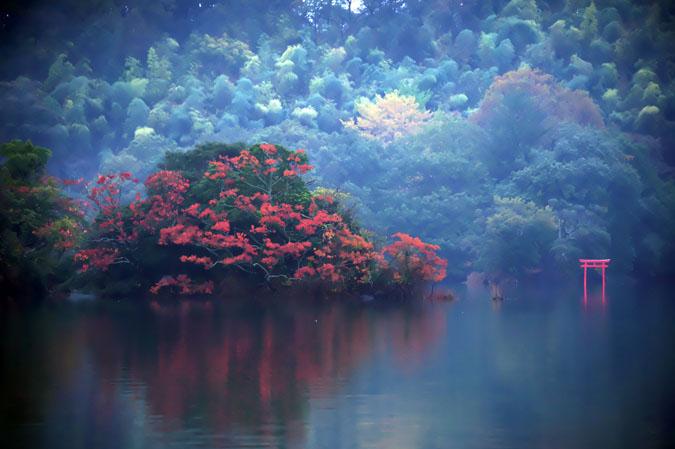 伊豆高原 一碧湖の紅葉1_a0263109_20394987.jpg