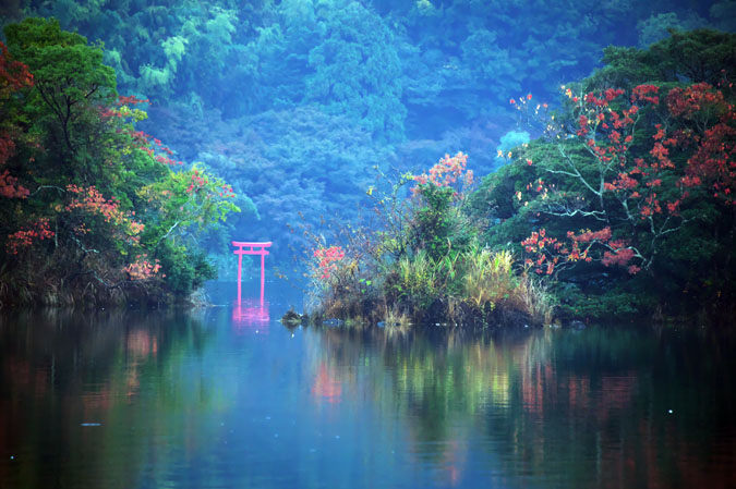 伊豆高原 一碧湖の紅葉1_a0263109_20395274.jpg