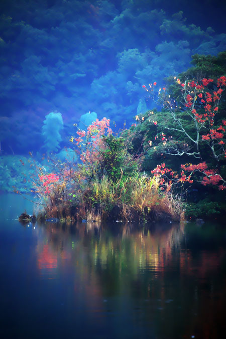伊豆高原 一碧湖の紅葉1_a0263109_20395590.jpg