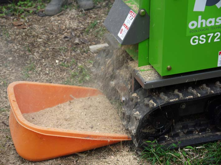 土質改良と雑草防止目的に明月荘の竹チップ入手14・10・10_c0014967_8163479.jpg