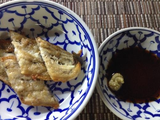 うなぎのオーブン焼き・わさび醤油_a0136671_3541179.jpg