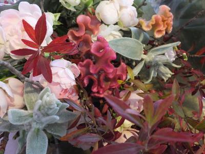 オークリーフ花の教室(落合さんと北条さんの作品)_f0049672_17424660.jpg