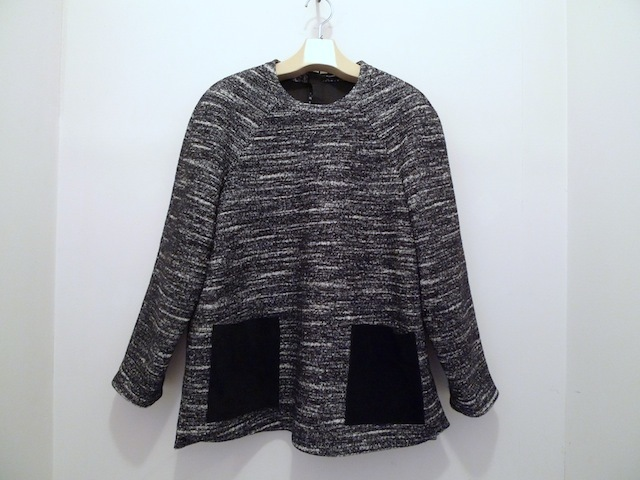 PROENZA SCHOULER BONDED WOOL BLOUSE WITH LEATHER POCKET_f0111683_12531844.jpg