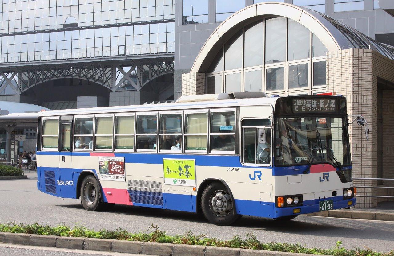 京都で見たバス4~西日本JR高雄...