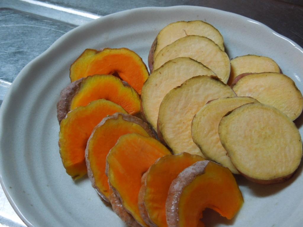 「安納芋とカボチャの天ぷら」_a0120513_19114260.jpg