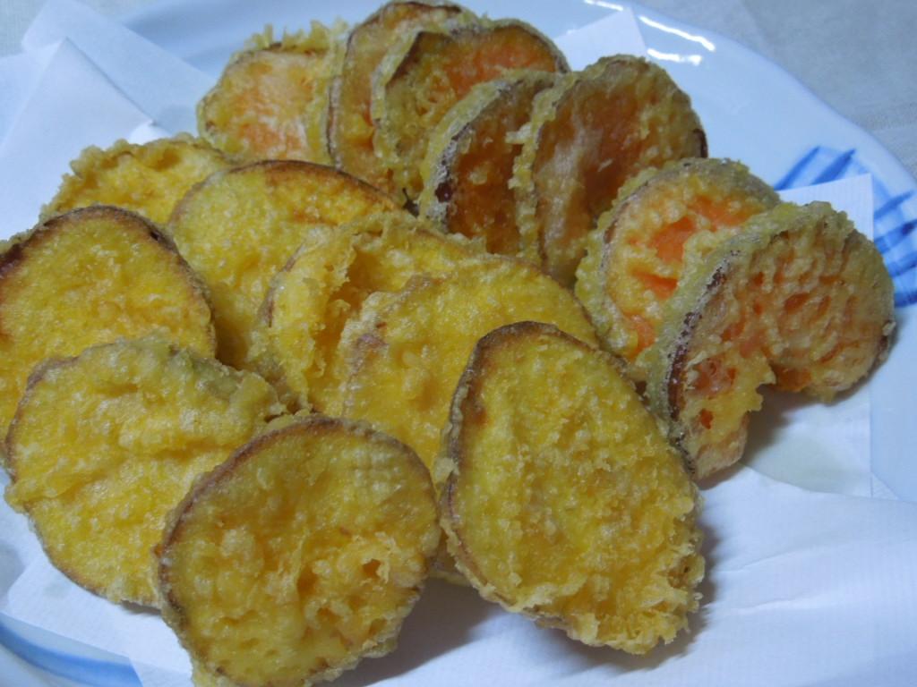 「安納芋とカボチャの天ぷら」_a0120513_191258.jpg