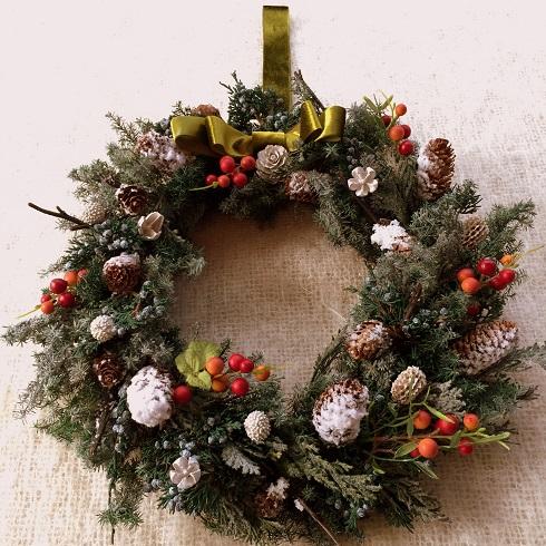クリスマスリース_c0157501_20582399.jpg