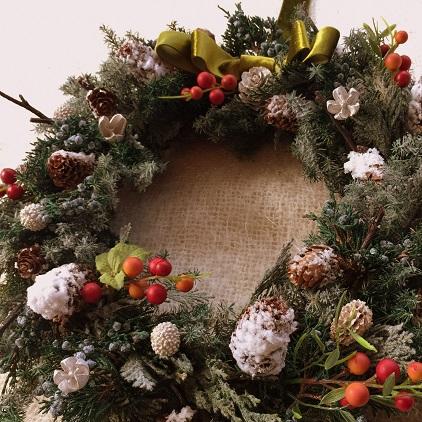 クリスマスリース_c0157501_20593566.jpg