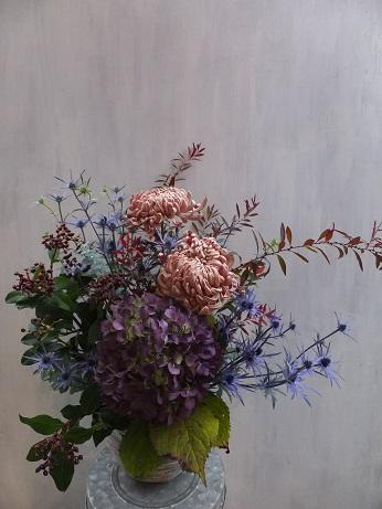 オークリーフ(菊のアレンジメント)_f0049672_17274370.jpg