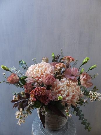 オークリーフ(菊のアレンジメント)_f0049672_17302488.jpg
