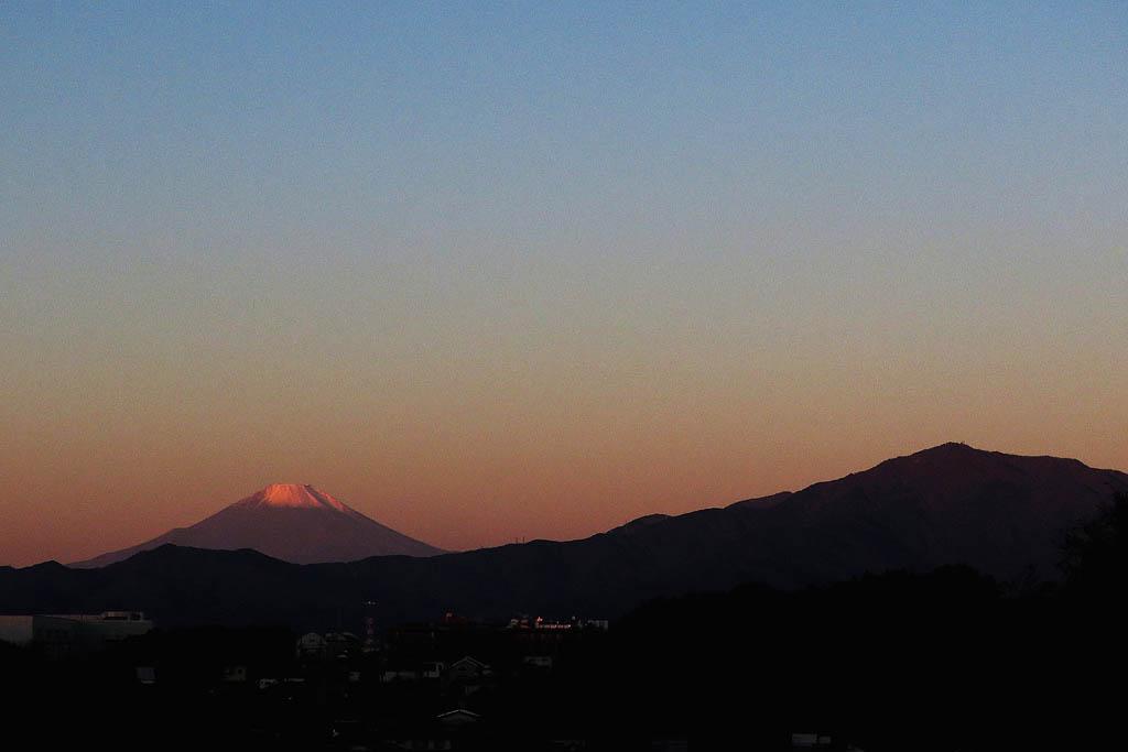 寒い朝/ホオアカ/お馴染みさん&コンデジで/赤富士/月・木星・レグルス/皇帝ダリヤに月_b0024798_1165259.jpg