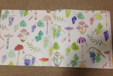 やってみました。Four Seasons かわいいものいっぱいの塗り絵ブック_c0313793_17153493.jpg