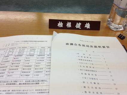 『 平成26年12月 政調会各部局長説明 』_f0259324_10214350.jpg