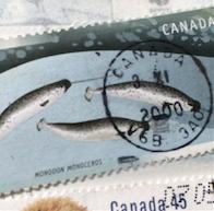 北極切手とクジラ切手(カナダ、1995年、2000年)_b0087556_18544970.png